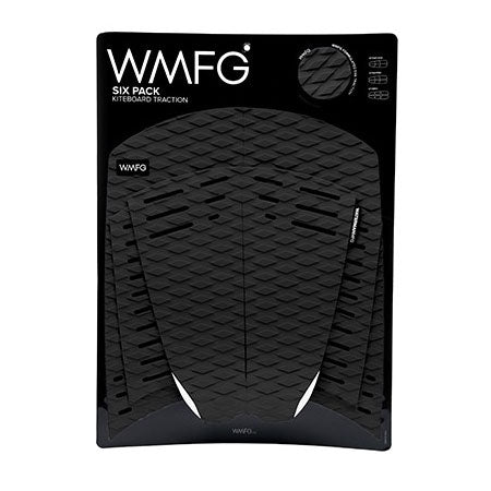 WMFG Traction Six Pack Kiteboard Surfboard Deck Pad Black