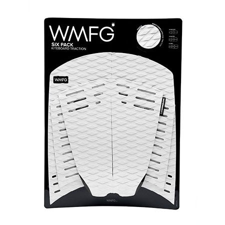 WMFG Traction Six Pack Kiteboard Surfboard Deck Pad White