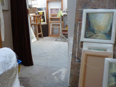 more of Steve Slimm's studio for art