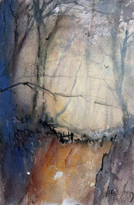 All Winter Through - Original Watercolour by Steve Slimm - Artist Steve Slimm - Online Gallery