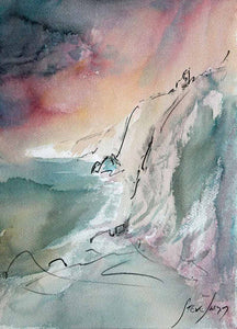 Ancient Cliffs - Original Watercolour by Steve Slimm - Artist Steve Slimm - Online Gallery