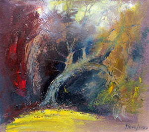 Arching Into the Shadows - Original Oil Painting by Steve Slimm - Artist Steve Slimm - Online Gallery