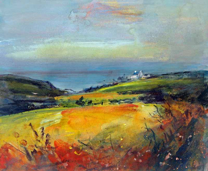 Coast near St.Just In Penwith - Original Mixed-media Painting by Steve Slimm - Artist Steve Slimm - Online Gallery