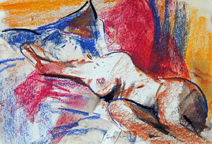 Colourful Fertility - Original Nude Sketch by Steve Slimm - Artist Steve Slimm - Online Gallery