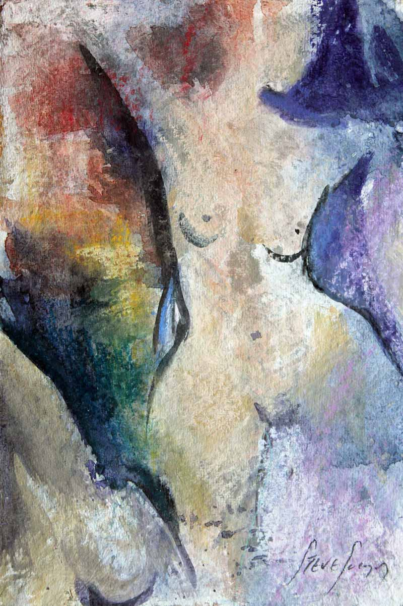 Ecstatic Dance - Original Watercolour by Steve Slimm - Artist Steve Slimm - Online Gallery