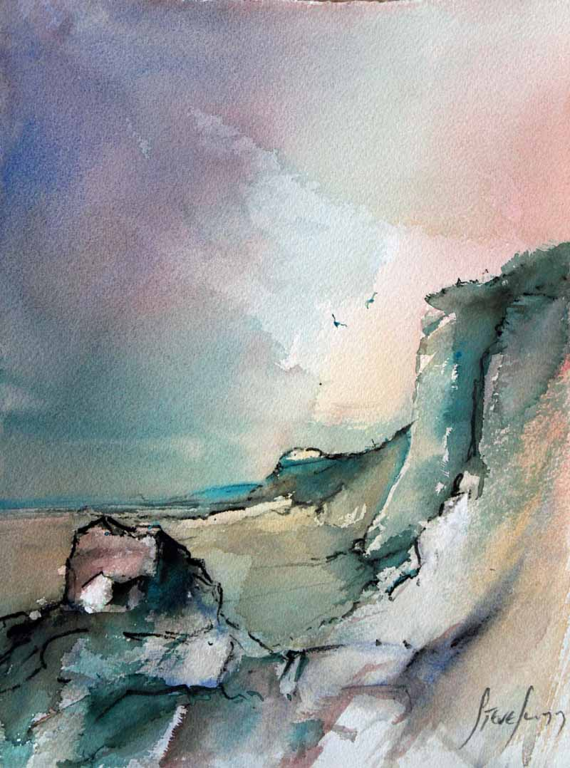 Edge of the Dunes - Original Watercolour by Steve Slimm - Artist Steve Slimm - Online Gallery