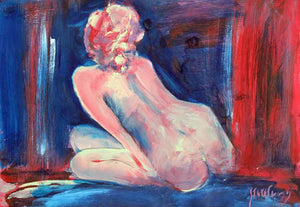 In The Depth Of The Night - Original Nude Painting by Steve Slimm - Artist Steve Slimm - Online Gallery