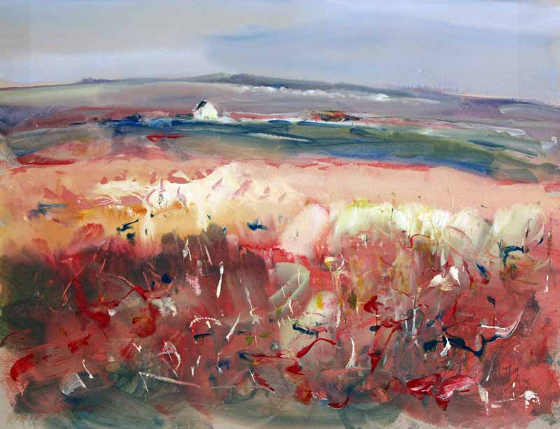 Inland From Above North Cliffs - Original Mixed-media Painting by Steve Slimm - Artist Steve Slimm - Online Gallery