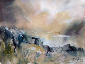 Original Watercolour Painting by Steve Slimm - Liquid Light of Morning - Artist Steve Slimm - Online Gallery