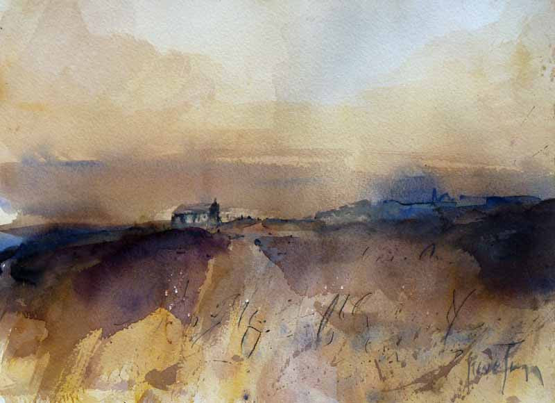Original Watercolour Painting by Steve Slimm - Moorland Isolation - Artist Steve Slimm - Online Gallery