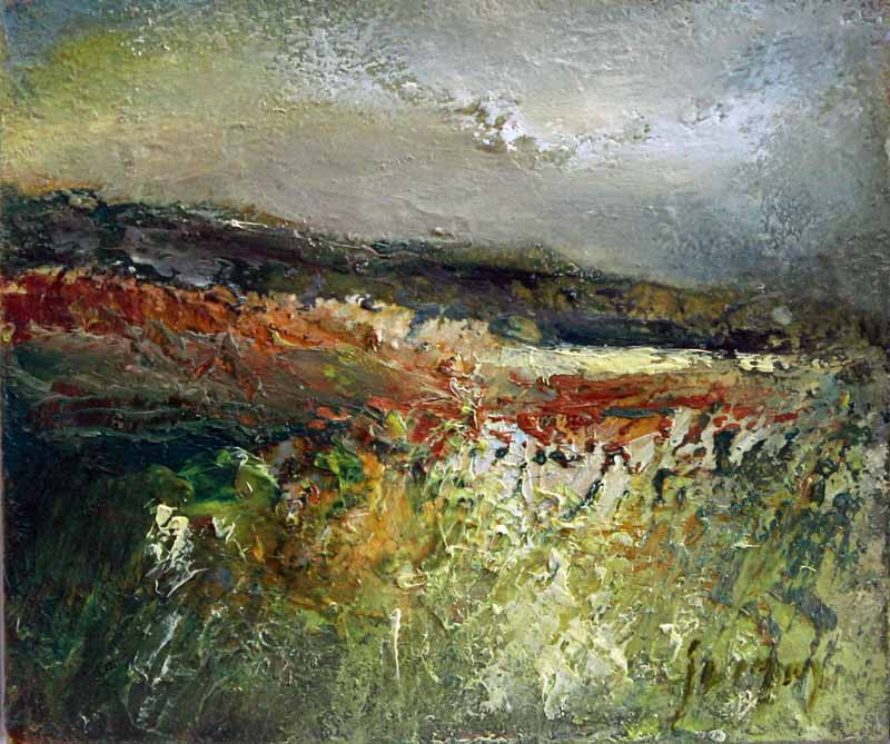 Moorland Layers: Original Oil Painting by Steve Slimm - Artist Steve Slimm - Online Gallery