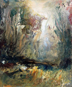 Sharp Woodland Light - Original Oil Painting by Steve Slimm - Artist Steve Slimm - Online Gallery