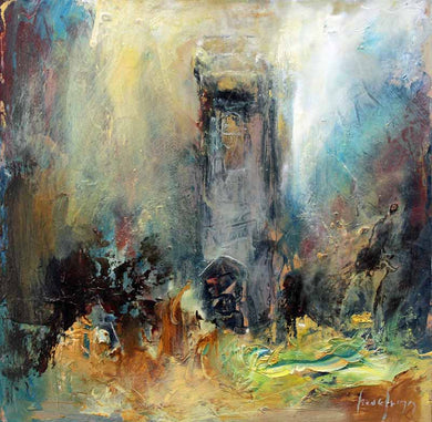 Original Oil Painting by Steve Slimm - The Darkness of the Church: Perranuthnoe