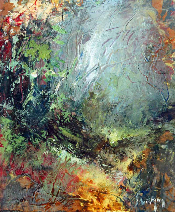 Vivid Woodland Light: Original Oil Painting by Steve Slimm - Artist Steve Slimm - Online Gallery