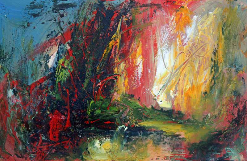 Wild Colour White Light - Original Oil Painting by Steve Slimm - Artist Steve Slimm - Online Gallery