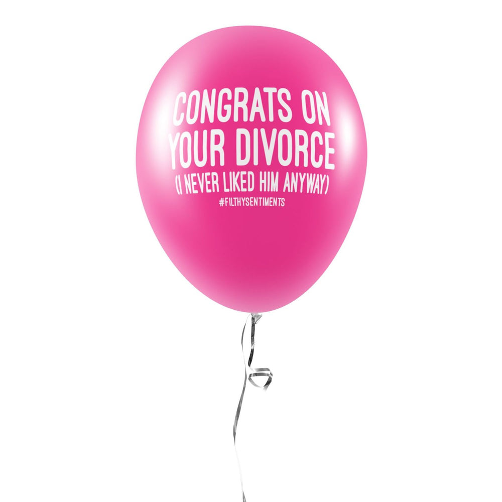 Load image into Gallery viewer, Congrats On The Divorce Balloons (Pack of 5)