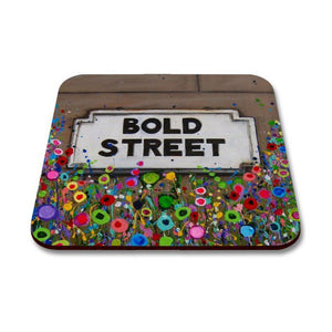 Liverpool Flower Coasters - Bold Street Sign