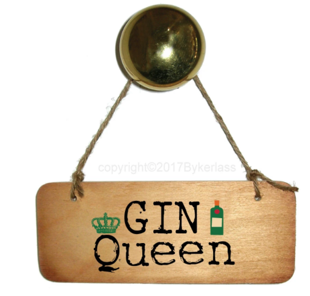 Gin Queen Wooden Sign