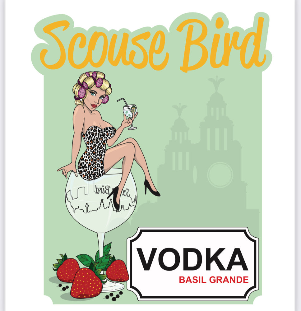 Scouse Bird Basil Grande Vodka Miniature 50ml
