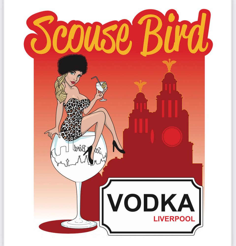Scouse Bird Liverpool Vodka Miniature 50ml