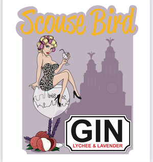 Load image into Gallery viewer, Scouse Bird Lavender & Lychee Gin 700ml