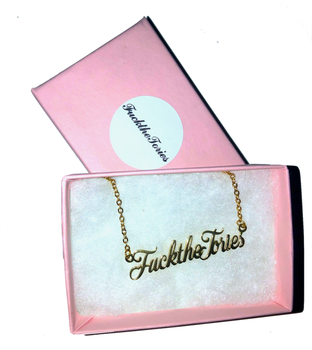 Fuck the Tories Necklace - Charity