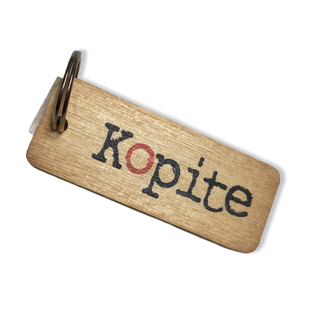 Load image into Gallery viewer, Kopite Rustic Wooden Keyring