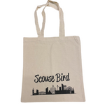 Scouse Bird Skyline Linen Tote Bag