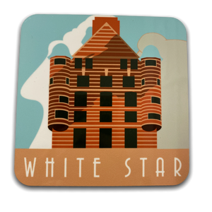 Load image into Gallery viewer, Art Deco Coaster - White Star Line Building