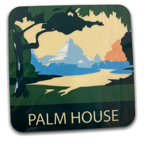 Load image into Gallery viewer, Art Deco Coaster - Sefton Park Palmhouse