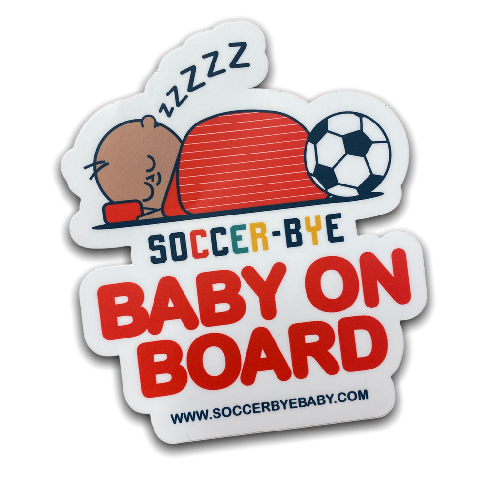 Soccer Bye Baby - Liverpool Baby On Board Car Sticker