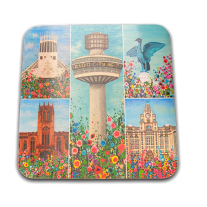 Liverpool Flower Coasters - Liverpool Montage