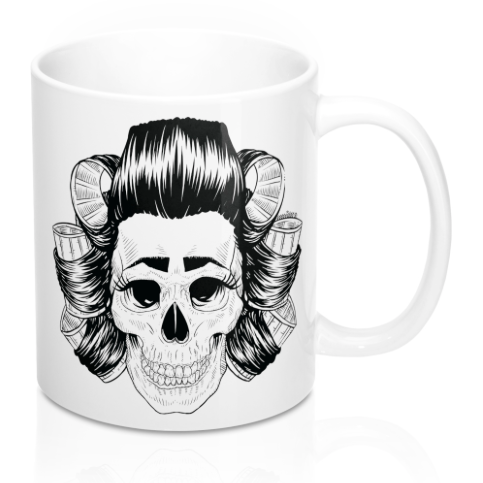 Scouse Bird Skull Mug