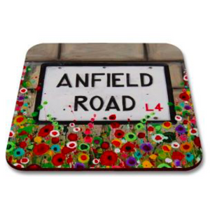 Liverpool Flower Coasters - LFC Anfield Road Sign