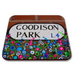 Liverpool Flower Coasters - EFC Goodison Park Street Sign