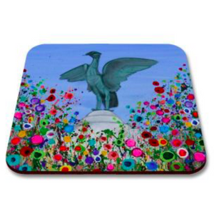 Liverpool Flower Coasters - Liver Bird