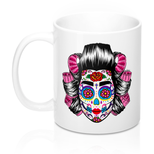 Scouse Bird 'Sugar Skull' Mug