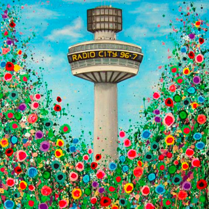 Load image into Gallery viewer, Liverpool Flower Coasters - Radio City Tower