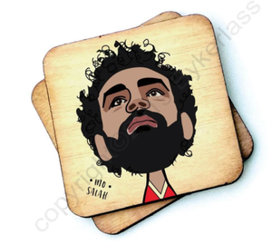 Load image into Gallery viewer, Mo Salah Wooden Coaster