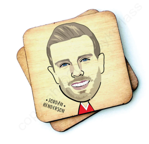 Load image into Gallery viewer, Jordan Henderson Wooden Coaster