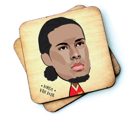 Virgil Van Dijk Wooden Coaster