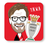 Jurgen Klopp Trophy Red Cork Backed Coaster