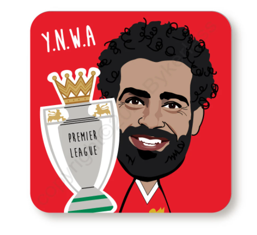 Mo Salah YNWA Red Cork Backed Coaster