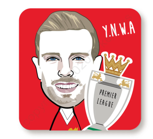 Jordan Henderson Trophy Red Cork Backed Coaster