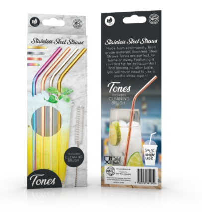 Multi Coloured Stainless Steel Reusable Straws