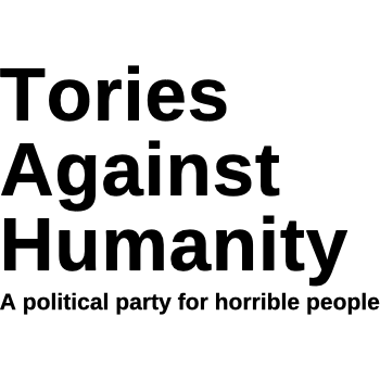 Tories Against Humanity T-shirt - Charity