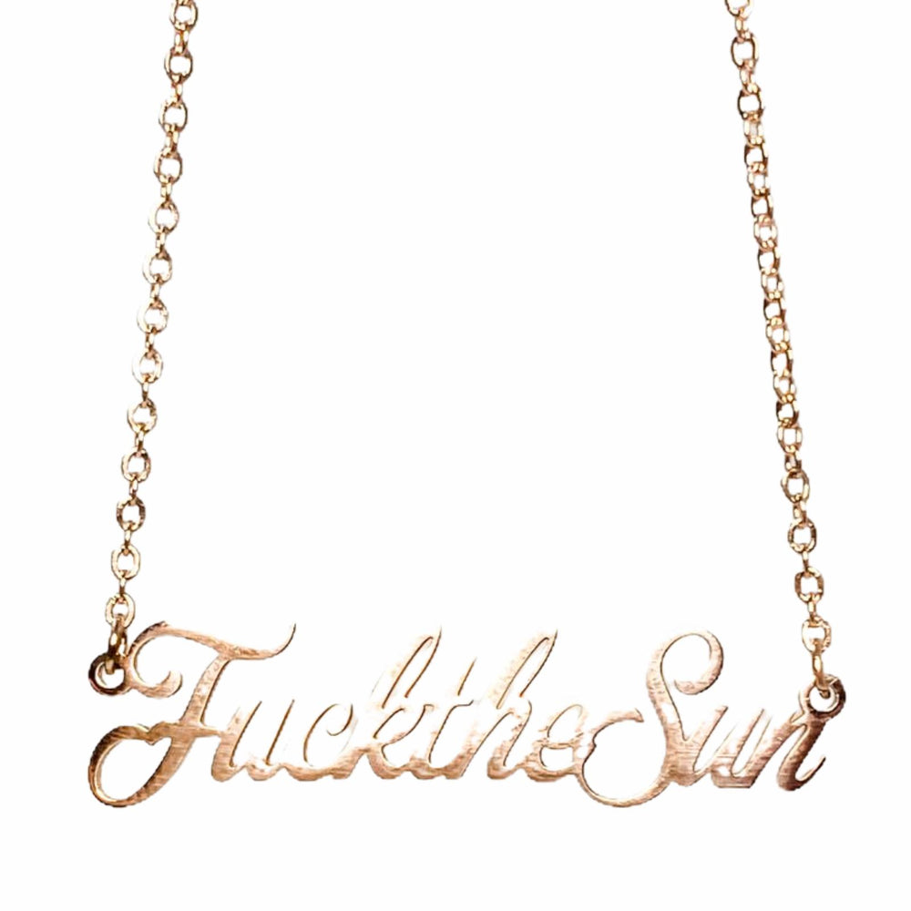 Load image into Gallery viewer, Fuck the Sun - Necklace