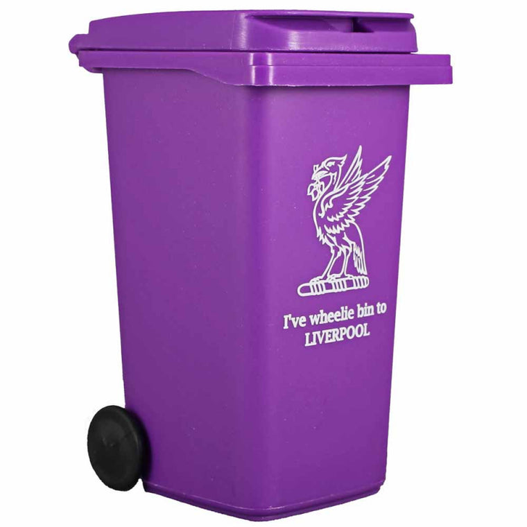 Purple Wheelie Bin desk tidy