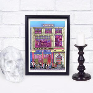The Krazyhouse Liverpool print A4 Mounted