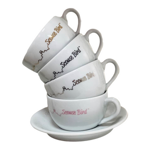 Load image into Gallery viewer, Scouse Bird Skyline Cup and Saucer